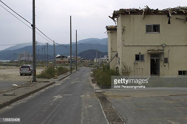 A devasted area at Rikuzentakata prior to the sixth month anniversary of the March 11 earthquake and massive tsunami on September 10 2011 in...