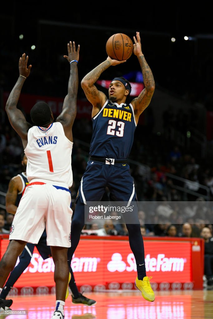 promo code 6dd88 72b09 DeVaughn Akoon-Purcell of the Denver Nuggets attempts a ...