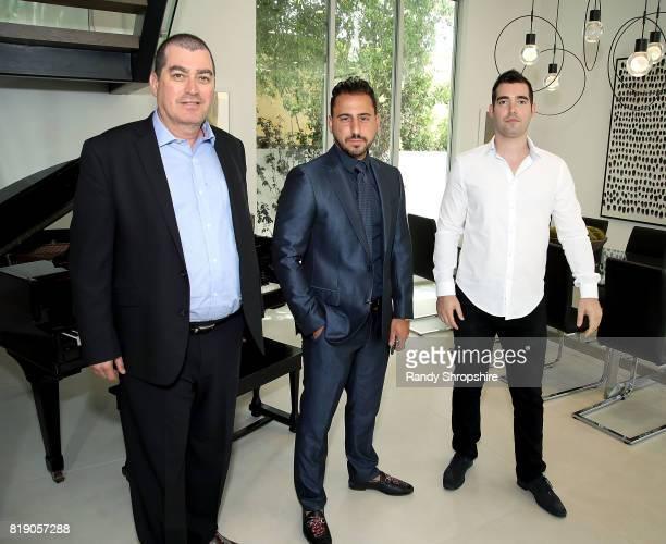 Developer Ilan Kenig Josh Altman and Tal Kenig attend 'Million Dollar Listing's' Josh Altman Showing on July 19 2017 in Los Angeles California