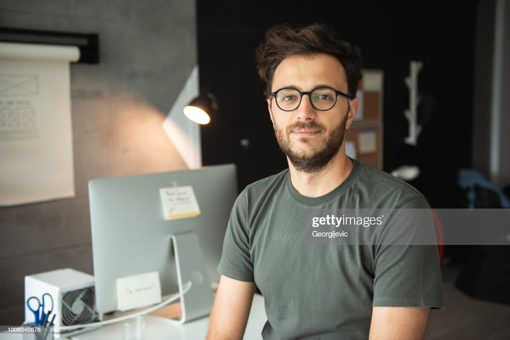 Developer in office : Stock Photo