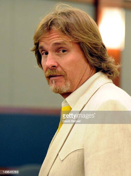 Developer Steve Kennedy appears during a court hearing at the Clark County Regional Justice Center on August 1 2012 in Las Vegas Nevada Kennedy and...
