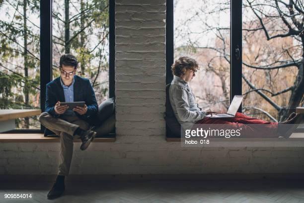 Developer team in the office