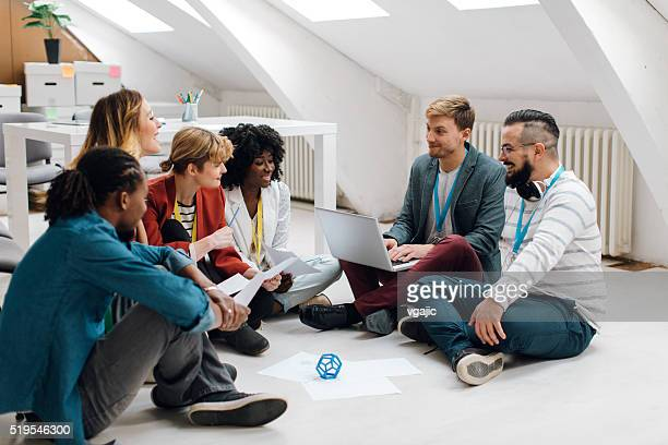 Developers Team Brainstorming in Their Office