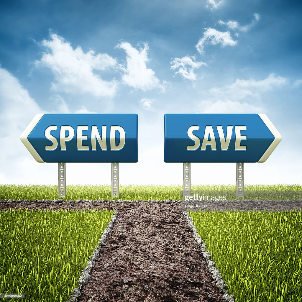 development and bankruptcy crossroad : Stock Photo