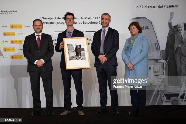 676e63b8ea Development minister Jose Luis Abalos son of Jose Tarradellas Guillem  Tarradellas AENA president Mauri Lucena and