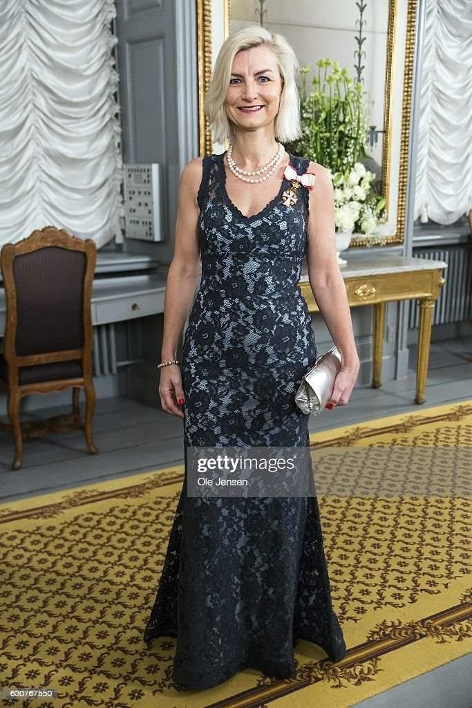 Development Minister Ulla Tornaes arrives to Queen Margrethe of Denmark's New Year's reception at Amalienborg on January 1, 2017 in Copenhagen, Denmark.