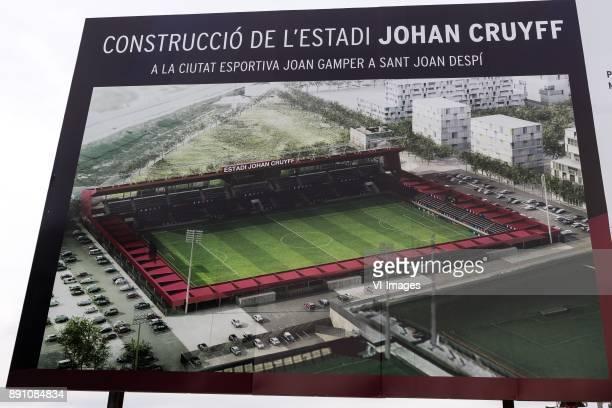 development of the new Johan Cruyff stadium during the La Liga woman 201718 match between FC Barcelona and RCD Espanyol at he Ciutat Esportiva Joan...