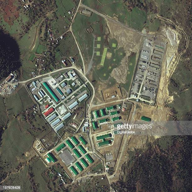 Development of the Russian Ugardanta Military Base shown in this image on November 16 2012 was started in 2006 and initially completed in 2008 This...