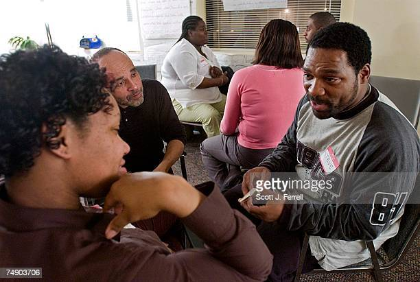 DEVELOPMENTSteve Diggs right and his son's mother Irael Savage during a counseling session at the Center for Fathers Families and Workforce...