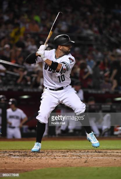Deven Marrero of the Arizona Diamondbacks gets ready in the batters box against the San Diego Padres at Chase Field on April 20 2018 in Phoenix...