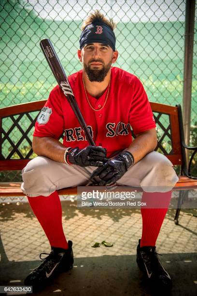 Deven Marrero of the Boston Red Sox poses in the batting cage during a team workout on February 18 2017 at Fenway South in Fort Myers Florida