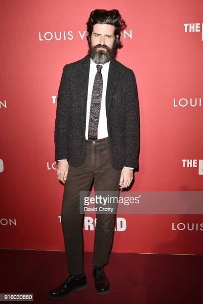 Devendra Banhart attends the Jasper Johns 'Something Resembling Truth' opening reception at The Broad on February 8 2018 in Los Angeles California