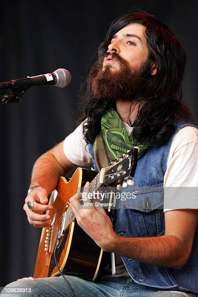 Devendra Banhart during 20th Annual Bridge School Benefit Concert Day Two at Shoreline Amphitheatre in Mountain View California United States