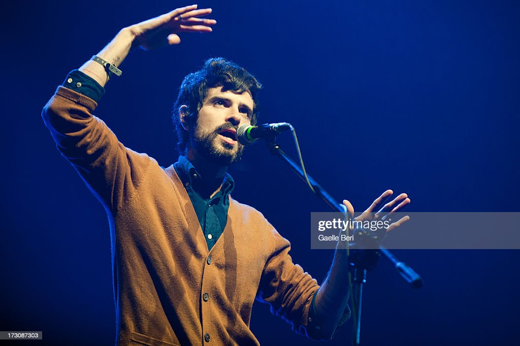 Devendra Banhart performs on stage on Day 4 of Open'er Festival 2013 on July 6, 2013 in Gdynia, Poland.