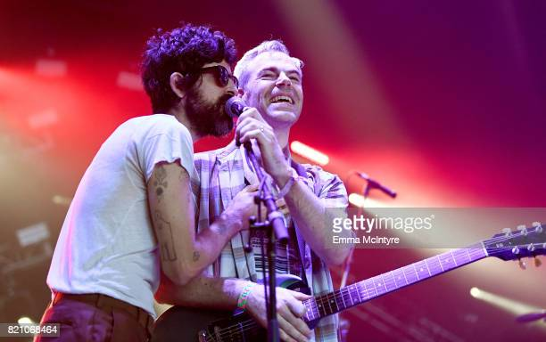 Devendra Banhart performs onstage during day 2 of FYF Fest 2017 at Exposition Park on July 22 2017 in Los Angeles California