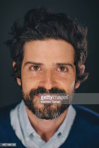 Devendra Banhart poses for a portrait backstage at ATP Iceland music festival at Asbru on July 12 2014 in Keflavik Iceland