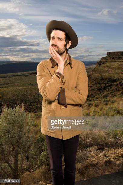 Devendra Banhart poses for a portrait backstage during Sasquatch Music Festival 2013 at the Gorge Amphitheater on May 25 2013 in Quincy Washington