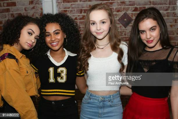 Devenity Perkins Daniella Perkins Savannah May and Lilimar Hernandez attend the private Super Bowl/episode viewing party hosted by 'This Is Us' Star...
