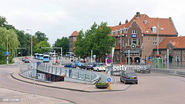 deventer bus and railway station in 2011 - deventer stock photos and pictures