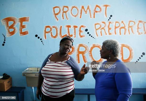 Deverell Alfred talks to someone at a shelter of St John in the US Virgin Islands on Sept 12 2017 Alfred has been volunteering as head cook at the...