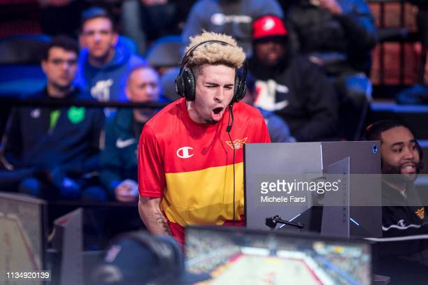 Devgoss of Hawks Talon Gaming Club plays during the game against Pacers Gaming during Day Three of the NBA 2K League Tip Off Tournament on April 4...