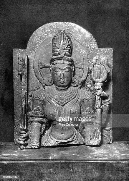 Devi sculpture Western India c900 AD Fourarmed granulite figure holding sword and trident in the upper hands The sculpture of the Hindu goddess Devi...