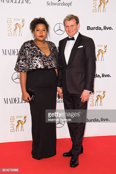 Devid Striesow and Francine Striesow arrive at the Bambi Awards 2016 at Stage Theater on November 17 2016 in Berlin Germany
