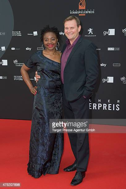 Devid Striesow and his wife Francine attends the 'Deutscher Schauspielerpreis 2015' at Zoopalast on May 29 2015 in Berlin Germany