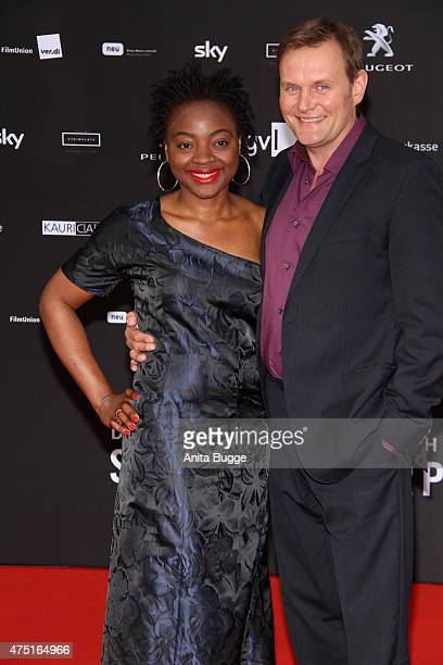 Devid Striesow and his wife Francine Striesow attend the 'Deutscher Schauspielerpreis 2015' at Zoo Palast on May 29 2015 in Berlin Germany