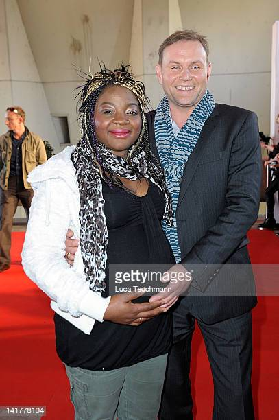 Devid Striesow and wife Francine attend the 48th Grimme Award on March 23 2012 in Marl Germany