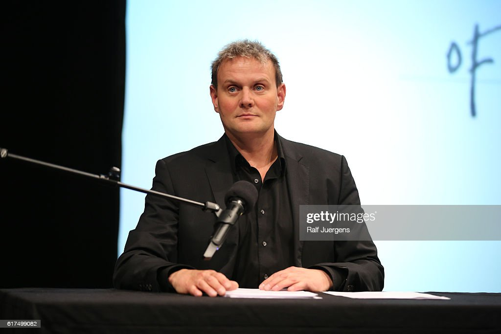 Devid Striesow attends a reading during the lit. Cologne at `WDR Funkhaus´ on October 23, 2016 in Cologne, Germany.