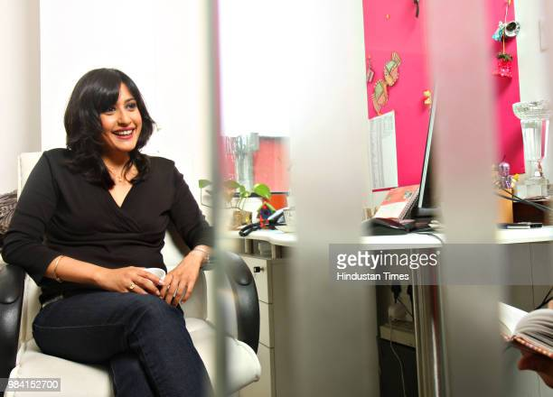 Devika Anand Head Travel Programming of NDTV during an interview with HT on June 16 2008 in New Delhi India