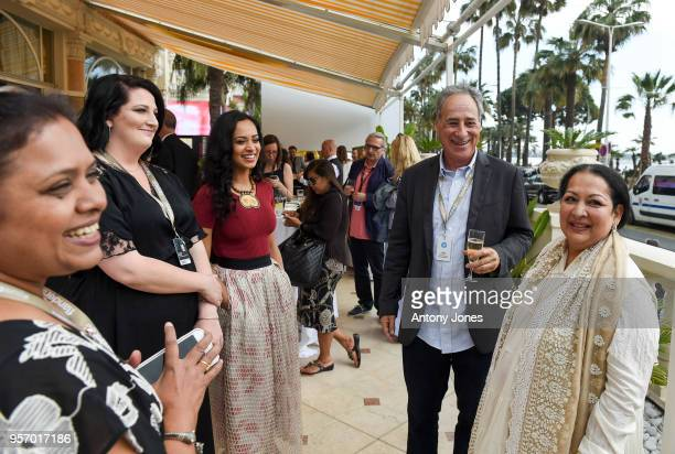 Devika Bhise guests attend an exclusive Cannes launch celebration of 'Swords Sceptres' at The Carlton on May 10 2018 in Cannes France