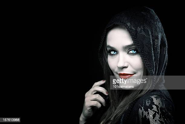 devil beauty - evil stock photos and pictures