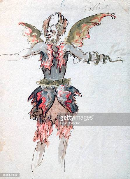 'Devil' c1680 A devil costume for a opera by JeanBaptiste Lully Found in the collection of the Louvre Paris
