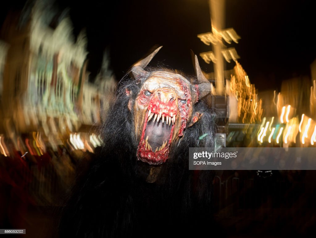 A devil character seen running in the centre of Graz. Around... : News Photo