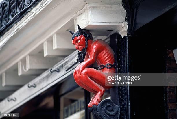 Devil, decorative detail of a Stonegate house, York, England. United Kingdom, 13th century.