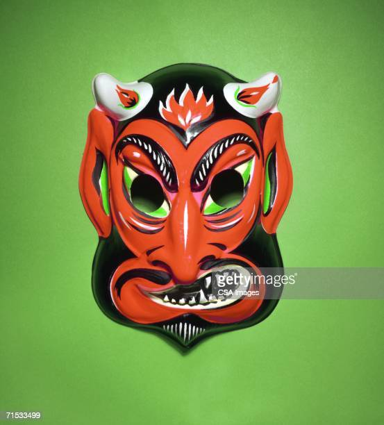devil mask - devil costume stock photos and pictures