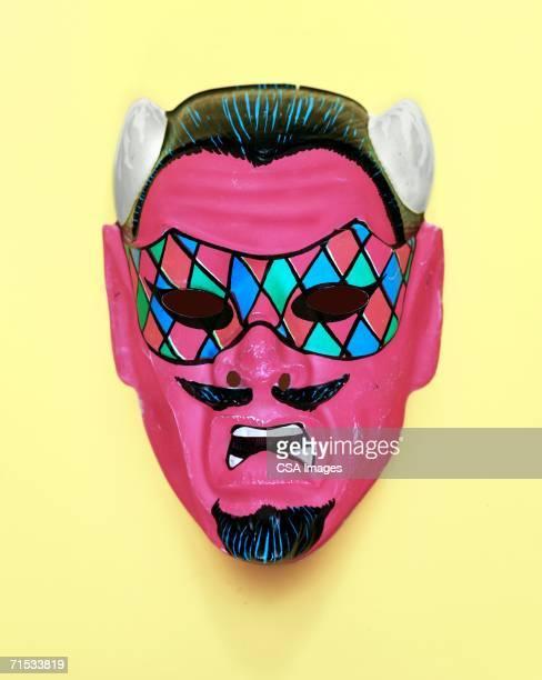 devil mask - disfraz de diablo fotografías e imágenes de stock