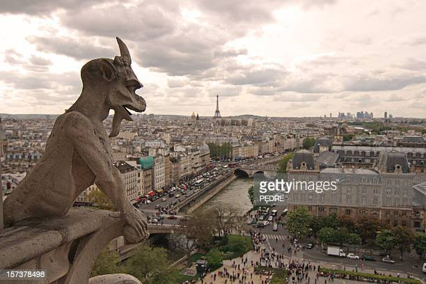 devil over paris - church of satan stock pictures, royalty-free photos & images