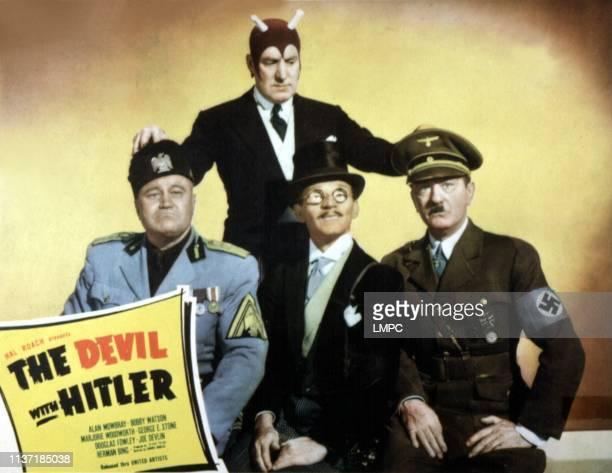 Devil With Hitler lobbycard THE Joe Devlin Alan Mowbray George E Stone Bobby Watson 1942