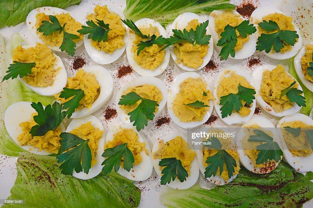 Huevos mimosa : Foto de stock