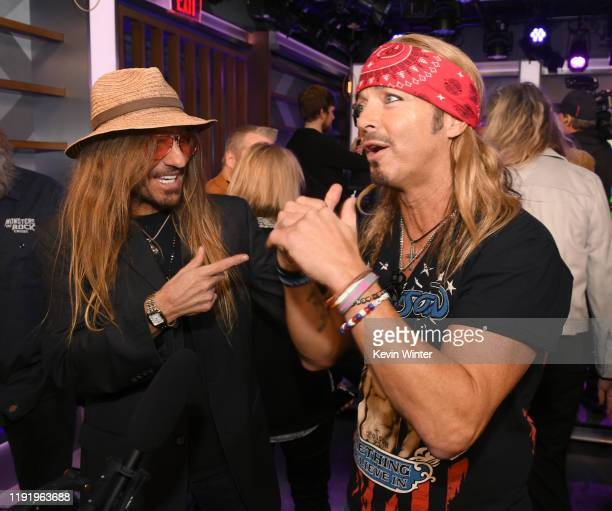 CC DeVille and Bret Michaels of Poison attend the Press Conference with Mötley Crüe Def Leppard and Poison announcing 2020 Stadium Tour on December...