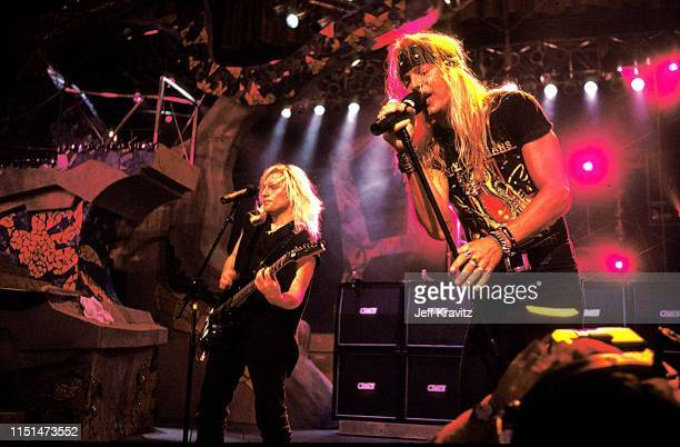 C DeVille and Bret Michaels of Posion at the 1991 MTV Video Music Awards at in Los Angeles California