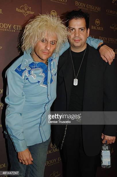 CC DeVille and Tommy Lipnick during Bench Warmer Lingerie Party at Body English at The Hard Rock Hotel and Casino at Body English in The Hard Rock...
