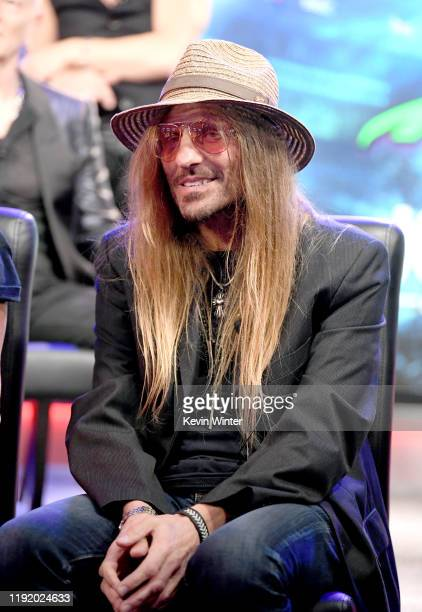 C DeVille appears onstage at a press conference with Mötley Crüe Def Leppard and Poison announcing their 2020 Stadium Tour on December 04 2019 in...