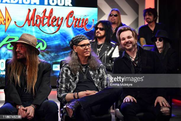 CC DeVille Bobby Dall and Rikki Rockett Poison speak during the press conference for THE STADIUM TOUR DEF LEPPARD MOTLEY CRUE POISON at SiriusXM...