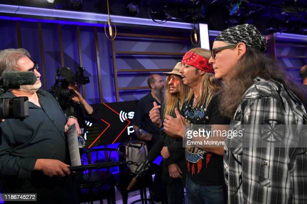 CC DeVille Bret Michaels and Bobby Dall of Poison speak during the press conference for THE STADIUM TOUR DEF LEPPARD MOTLEY CRUE POISON at SiriusXM...