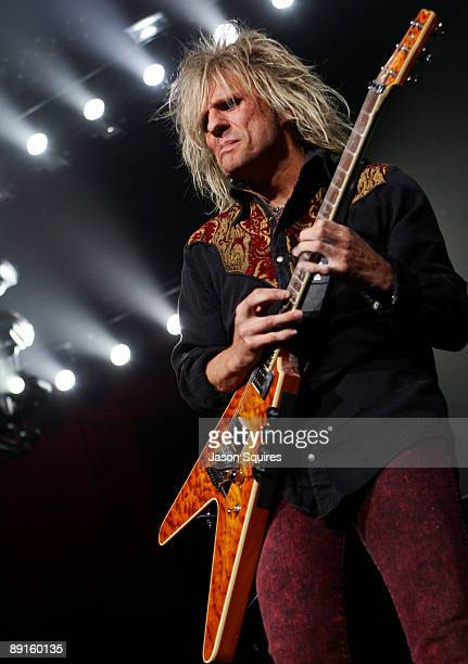 C DeVille of Poison performs at Sprint Center on July 21 2009 in Kansas City Missouri