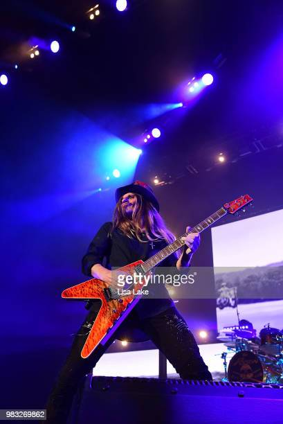 C DeVille of Poison performs during the Nothin' But a Good Time Tour 2018 at PPL Center on June 24 2018 in Allentown Pennsylvania